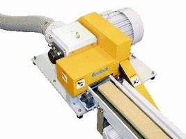 Mini Chip Grinder eliminates handling of waste material.