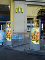 Vista System's Elegant, Flexible Sign System was Chosen for a McDonald's Branch in Oslo Norway