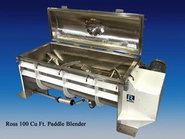 Paddle Blender mixes and deaerates viscous paste.