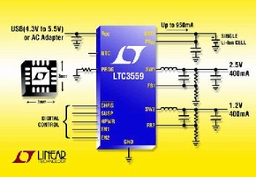 Power Management IC suits handheld applications.