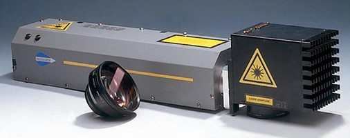 Laser Marking System features 360° adjustable head.