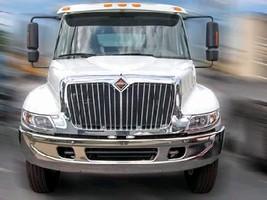 Bumper fits international medium- and heavy-duty trucks.