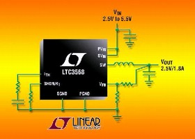 DC/DC Converter delivers up to 1.8 A continuous current.