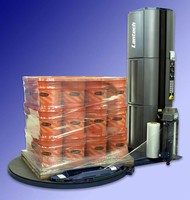 Stretch Wrapping System minimizes fork truck involvement.