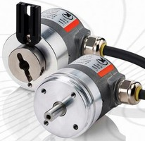 Hollow Shaft Encoders sense absolute position magnetically.