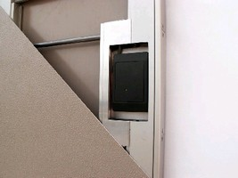 Flush Door Hardware accommodates proximity card readers.