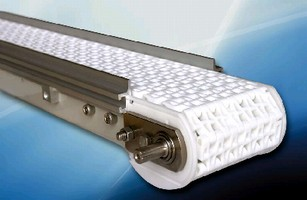 Plastic Chain Belt Conveyors offer capacities up to 500 lb.