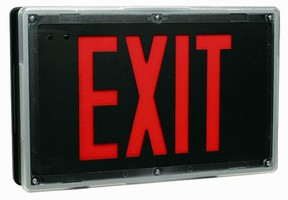 Exit Sign features self-testing diagnostics.