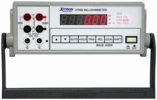 Digital Milliohmmeter measures wiring or cable resistance.
