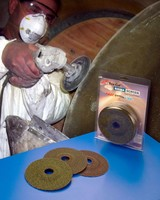 Abrasive Wheels grind and sand fiberglass.