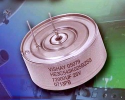 Wet Tantalum Capacitor provides range of 3,300-72,000 µF.