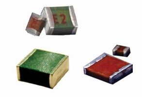 RF Chip Capacitors offer rated performance up to 4,000 Vdc.