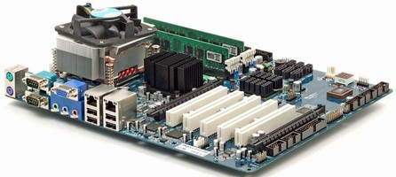 ATX Industrial Motherboard utilizes Core 2 Duo technology.