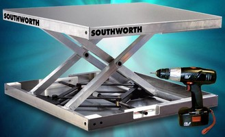 Portable Lifting Platform adjusts to workers' needs.