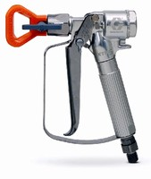 Airless Spray Gun handles extreme pressures up to 5,000 psi.