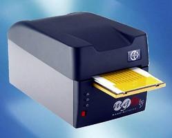 Desktop Thermal Printer produces industrial labels.