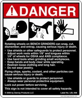 Tremendous Safety Sign Alerts Personnel To Bench Grinder Hazards Bralicious Painted Fabric Chair Ideas Braliciousco