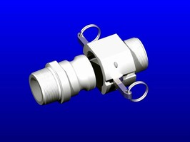 Quick-Connect Couplings withstand corrosive liquid flow.