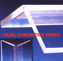 Dual Durometer Hinge is made from PVC leaves.