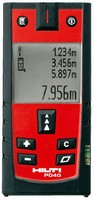 Laser Range Meters offer accuracy of ±1/25 in.