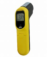 Infrared Thermometer features handheld design.