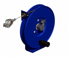 Static Discharge Reels feature all steel construction.