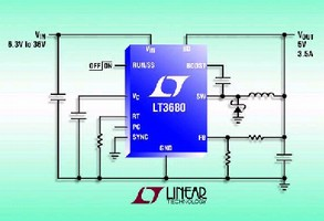 Step-Down DC/DC Converter draws quiescent current of 75 µA.