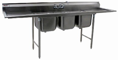 Deep-Drawn Sinks offer optimum sanitation.