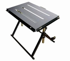 Mobile Welding Table features fully adjustable design.