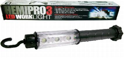 Cordless LED Work Lights provide even illumination.