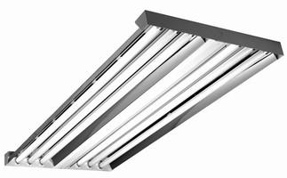High Bay Fluorescent Lighting replaces HID fixtures.