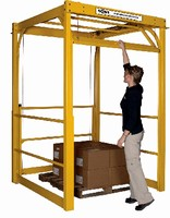 Safety Gate provides forklift access to mezzanines.