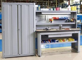 Lean Storage Solution maximizes workspace organization.