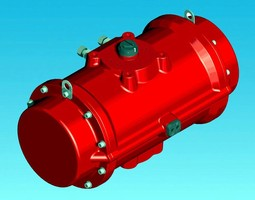 Pneumatic Actuator features corrosion-resistant coating.
