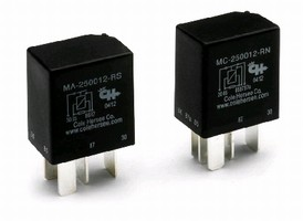Relay Switches accept load up to 25 A at 12 Vdc.