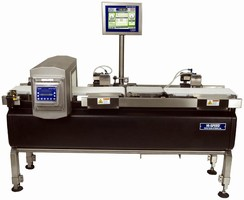 Checkweighers integrate color touch screen controllers.
