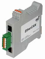 Gateway converts CAN into Ethernet.