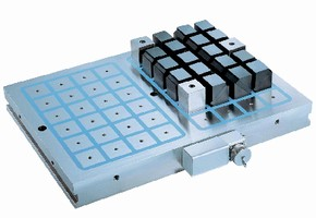 Clamping System uses electro-permanent magnets.