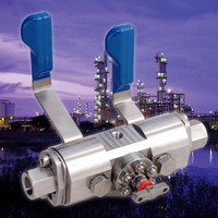 Double-Block-and-Bleed Manifold operates up to 15,000 psi.
