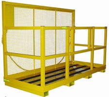 Work Platform features 63 in. high safety screen back.