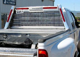 Safety Rack protects truck cabs.