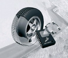 Chipset enables tire pressure monitoring.