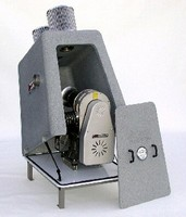Enclosure protects blower/motor in industrial environments.