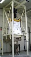 Bulk Bag Discharger features hoist design configuration.