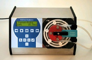 Peristaltic Pump provides flow range from 1.56-457 ml/min.