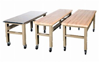 Adjustable Bench features heavy-duty design.