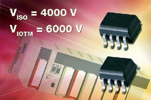 Optocouplers feature 4,000 V isolation voltage.