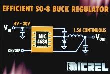 Buck Regulator is over 85% efficient.