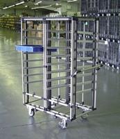 Mobile Cart Structure facilitates part transport/storage.
