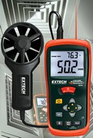 Thermo-Anemometer features built-in IR thermometer.